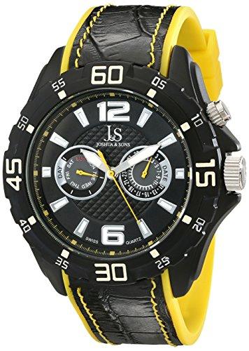 Joshua & Sons JS79YL - Reloj de pulsera hombre, color Negro