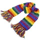 LOUDelephant Herren Schal Schal, Streifen * Einheitsgröße Gr. Einheitsgröße, regenbogenfarben
