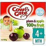 Vache Et Porte Prune Et Pomme Fruit Pots 4 X 100G - Paquet de 6