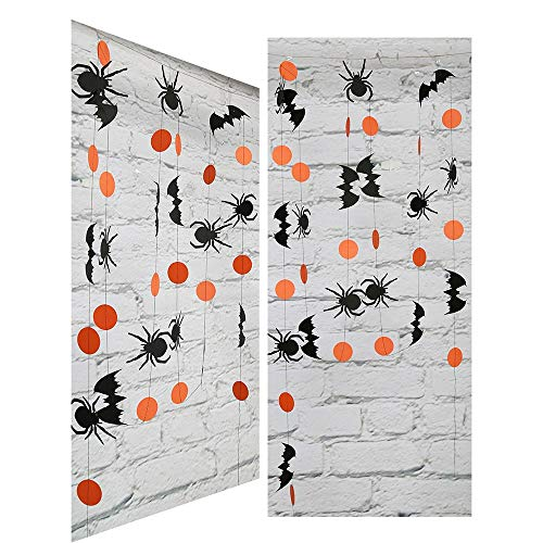 s - Cute Halloween Hanging Spiders Pennant Banner Decoration 4m Paper Props - Party Decorations ()