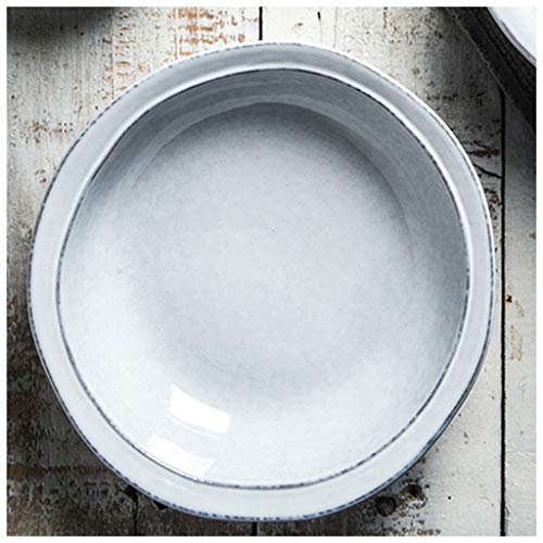 YYF Bol en céramique japonaise créative - Bol à nouilles aux fruits/à salade/à soupe (Taille : 21cmX22cm)