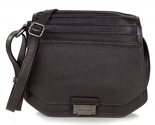 FREDsBRUDER All You Need sac de messager en cuir souple ciré (23 x 21 x 6 cm) Marron (Dark Chocolate)