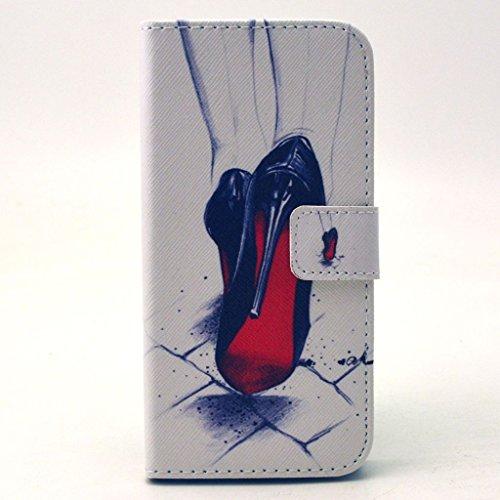PowerQ Colorful Pattern Bunte Muster PU Etui Holster Reihe Hülle für Iphone6Plus (5.5 Inch) IPhone 6 Plus 6S IPhone6S PU Tasche mit schönen Hübsches Muster drucken Drucken Zeichnung Wallet Geldbeutel  X-9