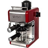 FiNeWaY@ PROFESSIONAL ELECTRI ESPRESSO CAPPUCCINO COFFEE MAKER MACHINE HOME OFFICE (RED)
