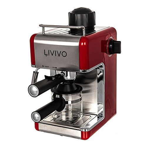 FiNeWaY@ PROFESSIONAL ELECTRI ESPRESSO CAPPUCCINO COFFEE MAKER MACHINE HOME OFFICE (RED)
