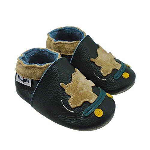 Mejale Weiche Sohle Leder Babyschuhe Lauflernschuhe Krabbelschuhe Kleinkind Kinderschuhe Hausschuhe Karikatur Nashorn Dunkelgrün