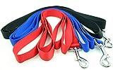 Hundeleine mit Doppelgriff Lange Starke Gurtband Nylon Führleine Schleppleine Übungsleine Trainingsleine Schwarz - 4