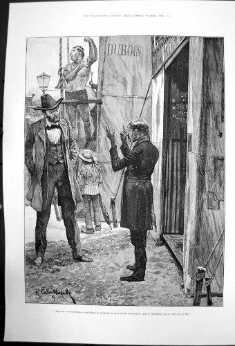 Impresario Rc Woodville, der versucht, seins Show an Herrn 1891 zu verkaufen