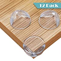 Corner Protectors for Kids, 12pcs Large Clear Safety Corner Protectors, Table Furniture Corner Protectors Guards for Child and Baby Proofing with Advanced Custom Made Adhesive Tape