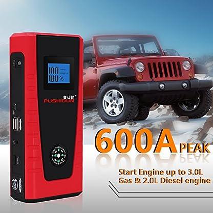 51cW%2BBA1%2BqL. SS416  - Arrancadores De Coche 12000mAh 600A Emergencia Bateria Kit Arranque para 12V 4.0L Gasolina & 2.0L Diesel Con Pinzas Inteligentes, Pantalla LCD, LED, USB Puertos para Emergencia Smartphones