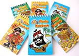 12 Pirate Mini Spiral Notebooks for Children's Birthday Party Loot Bags