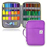 YOUSHARES 96 Slots Colored Pencil Case Pen Holder mit Zipper für Student & Artist (Violett)