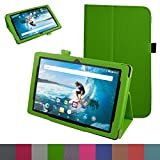 Odys Rapid 10 LTE hülle,Mama Mouth Folding Ständer Hülle Case mit Standfunktion für 10.1' Odys Rapid 10 LTE Android 5.1 Tablet-PC,Grün