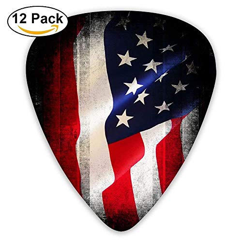 USA American Flag.png Custom Guitar Picks For Electric Acoustic Best Stuffer Gifts (12pack)