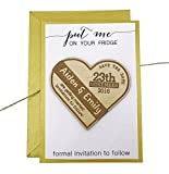 Custom Save The Date Wood Wooden Engraved Magnet 45 Rustic Wedding Announcement Wth Envelpoes