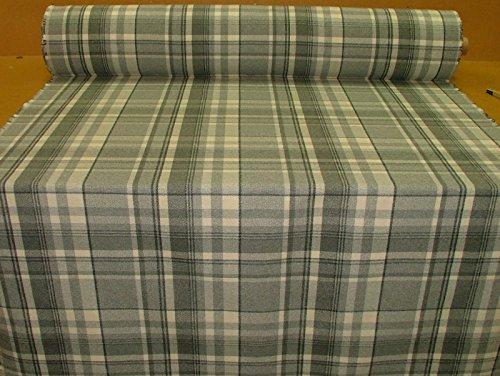10m Elgin grau taubengrau Effekt Wolle waschbar Stoff Tartan Plaid Dick & Vorhang Stoff -