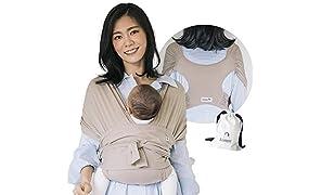 Konny Marsupio ultraleggero, imbracatura avvolgente per bambini senza problemi per bambini fino a 45 libbre con tessuto morbido e traspirante