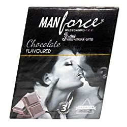 Manforce Black Grapes 3-In-1 Condoms 3 pieces Variety Packs (3)