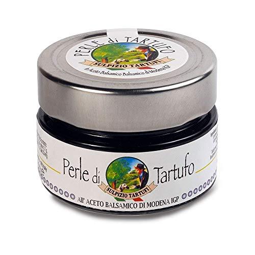 Sulpizio Tartufi - Perlas de Trufa Negra con Vinagre Balsámico - 100gr - Producto original en Italia