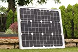 40W Solar Panel with Cable - for 12V Battery, Motorhome, Camping, Shed by PK Green