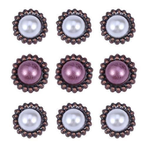Artibetter 20 stücke papierverschlüsse Metall Scrapbooking Metall Brad Vintage runde perlenverschlüsse für DIY Handwerk sammelalbum Dekoration (mischfarbe)