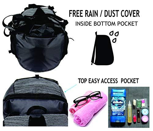 POLESTAR Flyer Black 55 ltrs Rucksack for Hiking Trekking/Travel Backpack Image 5