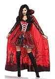 LEG AVENUE 85582 - Deluxe Vampire Verführerin Kostüm-Set, Damen Fasching, L, Schwarz/Rot