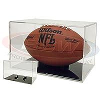 (1) BallQube Football Grandstand Case Display Stand Holder w/ Black Base