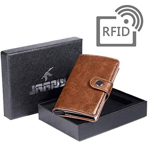 48d22aa85d65d7 Porta Carta di Credito, Portafoglio per Carte di Credito RFID Blocco Pelle  PU, ...