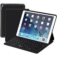 iPad Pro 10,5 Bluetooth Tastatur Hülle, EC Technology ultra-dünne Leichtgewicht Kabelloser Tastatur mit Smart Cover und Mehrfachwinkel Ständer, QWERTZ-Layout für iPad Pro 10.5 Zoll 2017 Tablet Schwarz