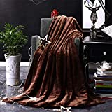 Morehappy7 Kleine Decke, superweiche Fleece-Überwurf, sehr gemütlich, leicht, Mikrofaser-Decke, Couch/Sofa/Bettwäsche/Reise/Camping-Decke, Coffee, 150 * 200cm