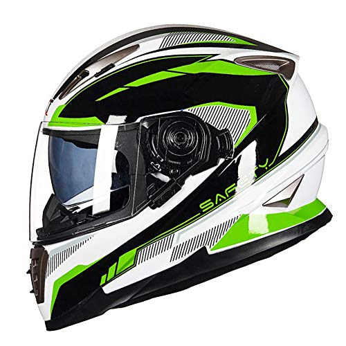 CARACHOME Bandit Helm, Motocross Helm Mit Doppelter Sonnenblende, Unisex Motorradhelm.Downhill Helm Für Honda Yamaha Suzuki Kawasaki,D,L