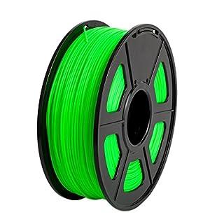 Broadroot 3D Printer Filament 1.75mm 1KG Spool Fluorescence Luminous Consumables for 3D Print (Green)
