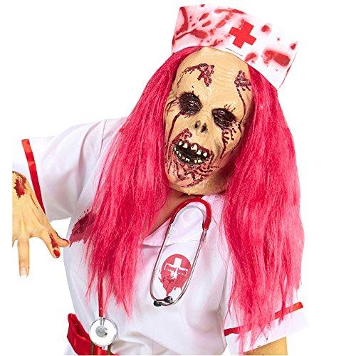 WIDMANN 74954Máscara Zombie Enfermeras, One size