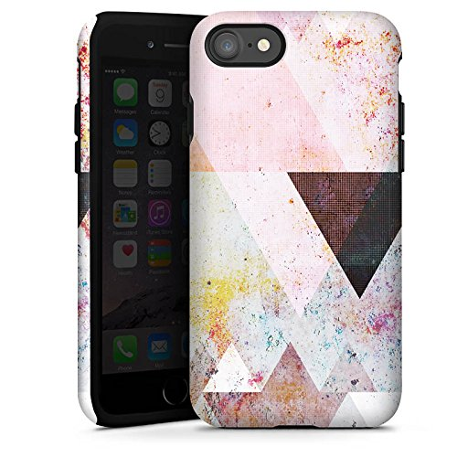 Apple iPhone 5s Hülle Case Handyhülle Dreiecke Grafisch Abstrakt Tough Case glänzend