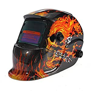 AUDEW Masque De Soudure Cagoule Casque Soudage Solaire Automatique(Utiliser Energie Solaire pour Recharge)Accessoire de Protection Crâne et Flamme