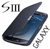 Flip Tasche Samsung Galaxy S3 Neo Gt- i9301i i9301 Schutz Hülle Case Cover Dunkel Blau + Gratis...