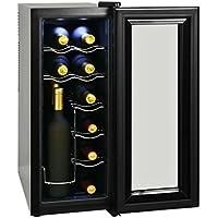 Festnight- Vinoteca de 12 Botellas 35 L Pantalla LCD 25,2 x 50 x 63,8 cm