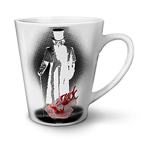 Jack The Ripper Fear Killer Man White Ceramic Latte Mug 12 oz | Wellcoda