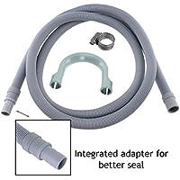 SPARES2GO universale tubo di scarico lavatrice tubo di prolunga (2.5M, 18mm/22mm)