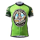 Thriller Rider Sports Homme Cheers for Being Green Sports et Loisirs Maillot de Cyclisme Manches Courtes X-Large
