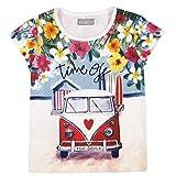 Bóboli Mädchen Stretch Knit T-Shirt For Girl, Weiß (White 1100), 98 (Herstellergröße: 3)