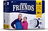 Friends Protective Underwear for men & Women Disposable Pull-ups - L-XL (10 Count)