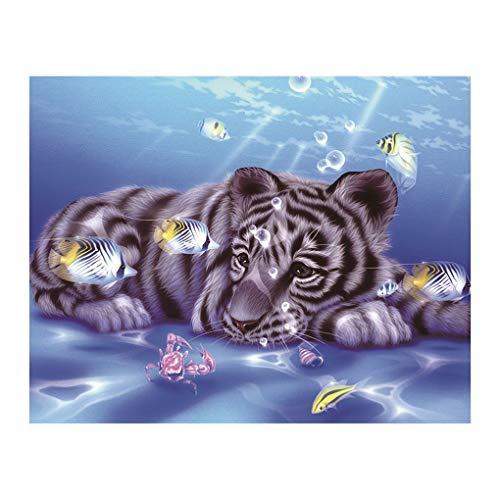 5D DIY Elefant/Hund / Tiger/Vogel-Muster Diamant-Malerei Runde Harz-Kristall Stickerei Bild Startseite Dekorative Kreuz-Stich Sunlera -