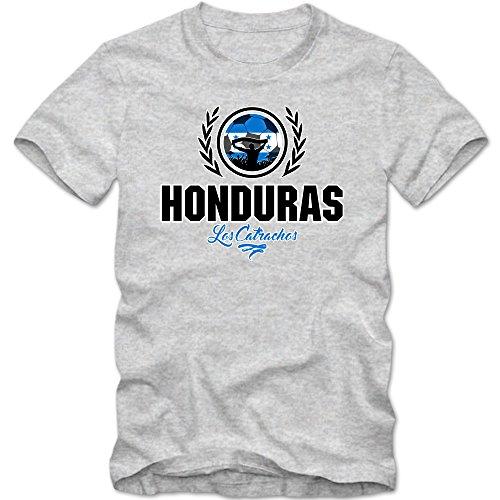 Fußball Honduras V2 T-Shirt   Fußball   Herren   Los Catrachos   Trikot   Nationalmannschaft Graumeliert (Grey Melange L190)