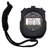 Digitale Stoppuhr, Handheld Sport Stopuhr mit Großes LCD Display, täglich alarm und Kalender, Schwar Leap