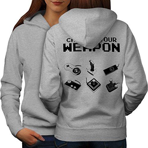 Waffe Gamer Nerd Gaming Gamer Liebe Frau L Kapuzenpullover Zurück | Wellcoda