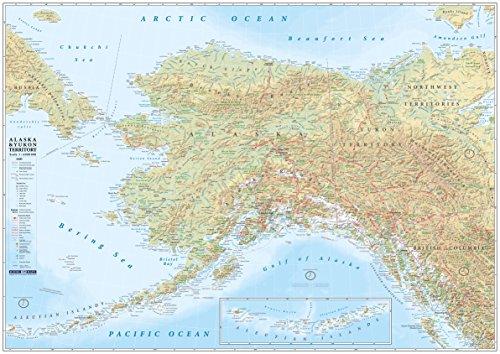 ALASKA & YUKON TERRITORY Landkarte - Poster -