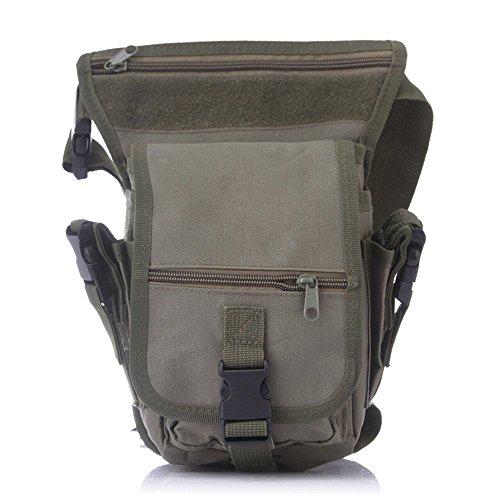 Wewod Hüfttasche Tactical mit Trinkflasche und verstellbarem Bauchgurt/Mode Multifunktionale Gürteltasche Handytasche für Camping Wandern Outdoor Armee-Grün Trompete