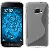 PhoneNatic Case kompatibel mit Samsung Galaxy Xcover 4 / 4s - Clear Silikon Hülle S-Style + 2 Schutzfolien